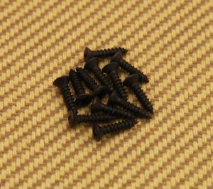 001-8113-049 (12) Genuine Fender Black Pickguard/Control Plate Screws 0018113049