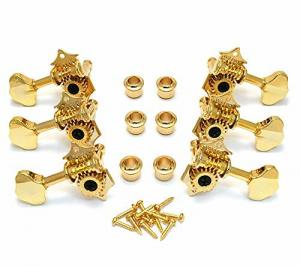 WJ28G 3+3 Tuning Pegs Tuners Machine Heads Gold Butterbean Guitar Wilkinson