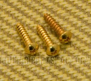 BTMSG (3) Gold Trapeze Tailpiece Mounting Screws