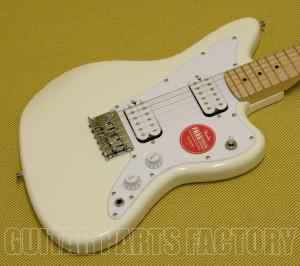 037-0125-505 Squier Mini Jazzmaster 3/4 Size Electric Guitar Maple Olympic White 0370125505