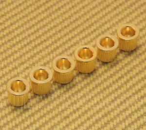 AP-0087-002 (6) Gold Body Ferrules for Guitar
