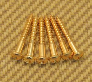 GS-0013-002 (6) Tremolo Mounting Screws For Strat - Gold