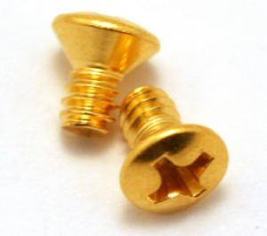 GS-3263-002 2 Gold Countersunk Screws For USA Lever Switch