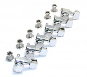 099-0818-100 Genuine Fender Polished Chrome Locking Guitar Tuners Strat/Tele 0990818100