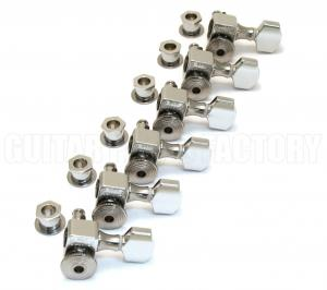 SZ-6-CH Sperzel Trim-Lock  6 Inline Chrome Guitar Tuners