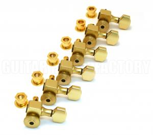 SZ-6-GD Sperzel Trim-Lock 6 Inline Gold Guitar Tuners