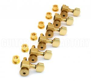 SZ-6-STGD Sperzel Trim-Lock 6 Inline Satin Gold Guitar Tuners