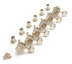136N6 Grover Nickel Vintage Deluxe 6 Inline Guitar Tuners for Fender Strat/Tele