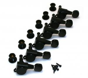 TK-0760-003 Sealed Black Gotoh 6-Inline Mini Guitar Tuners for Fender