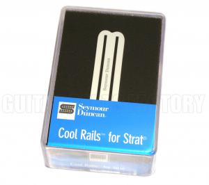 11205-08-W Seymour Duncan Cool Rails Bridge White SCR-1b