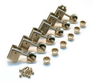 TK-0779-001 Gotoh Nickel Locking Vintage 6 Inline Guitar Tuners