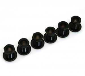 TK-0786-003 (6) Black Screw-In Tuner Bushings and Washers for Modern Guitars
