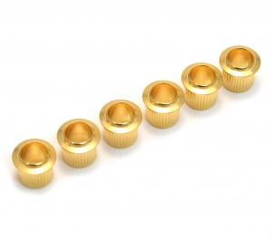 TK-0789-002 Press Fit Vintage Style Guitar Bushings Gold Knurled Brass