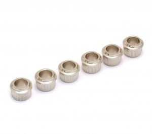 TK-0900-001 Press In Nickel Guitar Tuner Adapter Bushings 3/8 Peg-1/4 Post