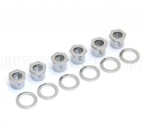 TK-0787-010 Sperzel Screw-In Guitar Bushings Polished Chrome