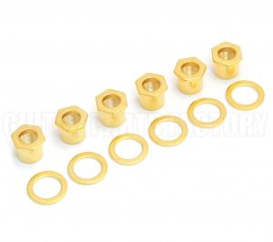 TK-0787-002 Sperzel Screw-In Guitar Bushings Polished Gold