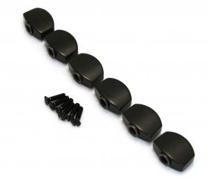 TK-0996-0E0 6 Ebony Buttons for Schaller M6 Mini Guitar Tuners