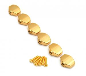 TK-7714-002 6 Gold Buttons for Gotoh Mini Sealed Guitar Tuners
