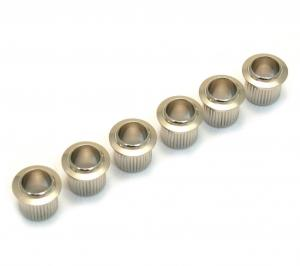 TK-0789-001 (6) Nickel Vintage Style Press-In Guitar Tuner Bushings