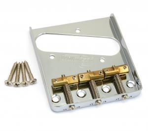 WTBCR Chrome Wilkinson Compensated 3-Saddle Guitar Bridge Telecaster®