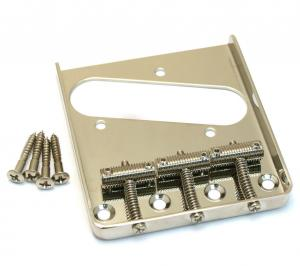 TB-0020-001 Nickel Vintage Threaded Guitar 3-Saddle Bridge for Telecaster®
