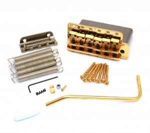 099-2049-200 Genuine Fender Pure Vintage Gold Block Stratocaster Tremolo Bridge 0992049200