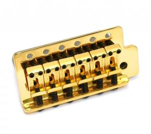 005-9561-000 Fender Mexican/Squier Gold Bridge Assembly Tremolo Block for Strat 0059561000