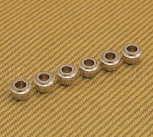 AB-N (6) Nickel Finish Guitar Tuner Adapter Bushings 10mm Peghead to 6mm Post