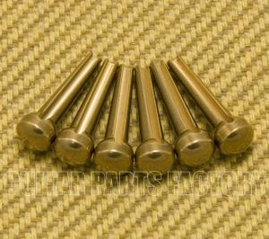 BP-001-BR Large Brass Bridge Pins (6)