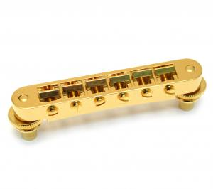 GB-0540-002 Schaller Nashville Gold Tunematic Guitar Bridge